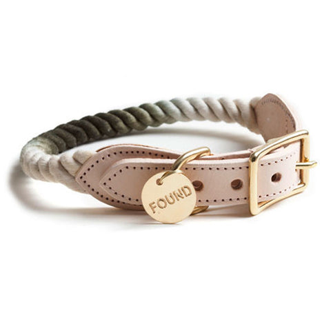 Found My Animal - Dog Collar - Olive Fade