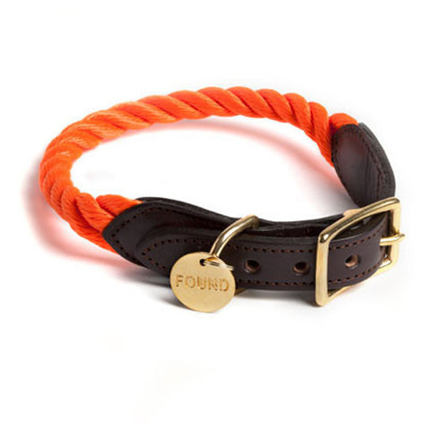 Found My Animal - Dog Collar - Rescue Orange
