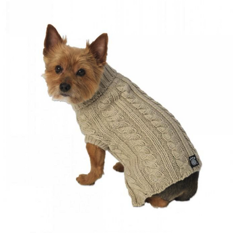 Marley's Cable Sweater - Tan