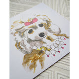Greeting Card - Pearly Poodle