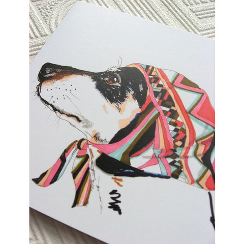 Greeting Card - Pooch In Pucci