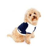 Dog tees - navy + white