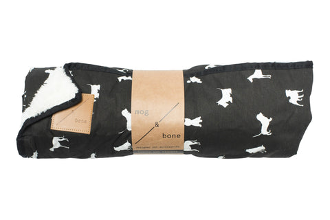Mog & Bone Fleece Blanket - Black Dog