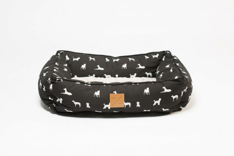 Mog & Bone  Bolster Bed - Black Dog