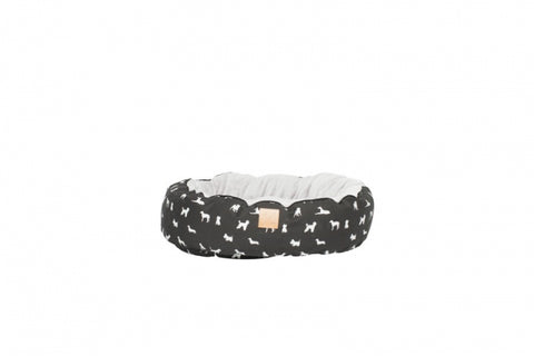 Mog & Bone Circular Reversible Bed - Black Dog