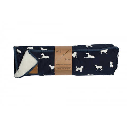 Mog & Bone Fleece Blanket - Blue Dog