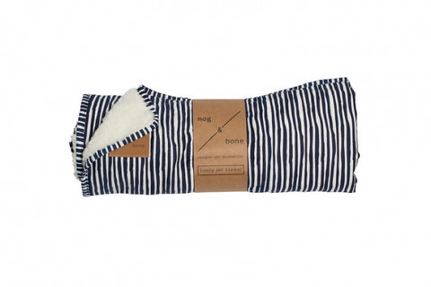 Mog & Bone Fleece Blanket - Blue Stripe