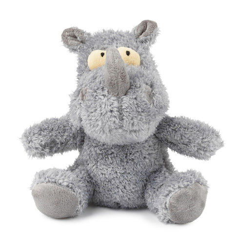 Plush Dog Squeak Toys - Charge the Rhino