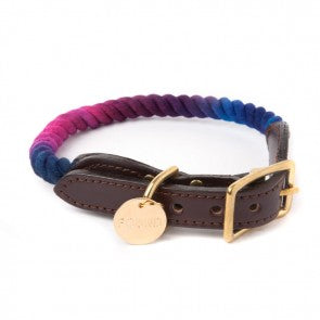 Found My Animal - Dog Collar - Dark Multi Ombre