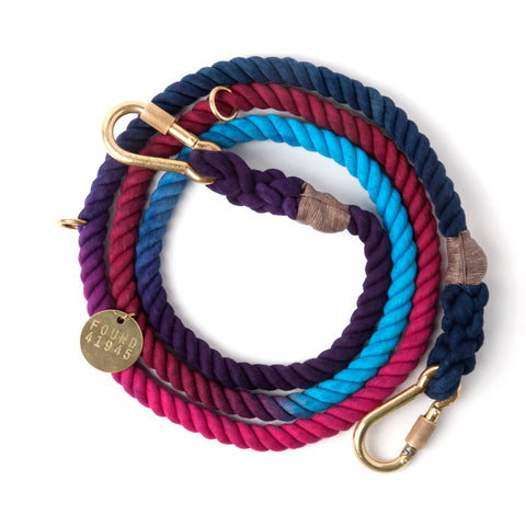 Found My Animal - Dog Leash - Dark Multi Ombre