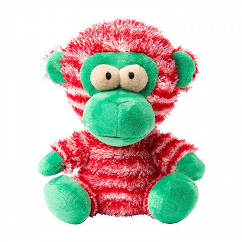 Plush Dog Squeak Toys - Bubbles the Christmas Monkey