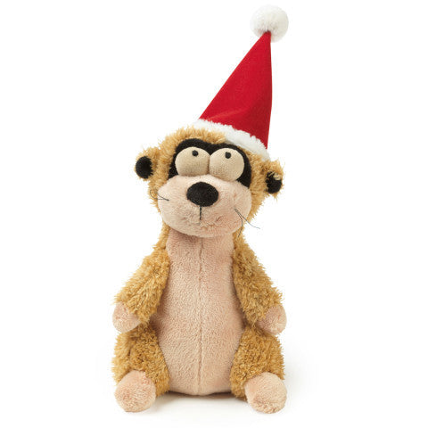 Plush Dog Squeak Toys - Mimi the Christmas Meerkat