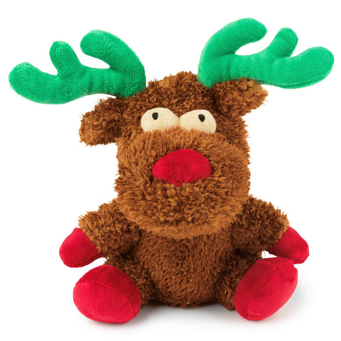 Plush Dog Squeak Toys - Rocky the Christmas Reindeer