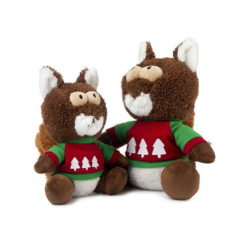 Plush Dog Squeak Toys - Nuts the Christmas Squirrel