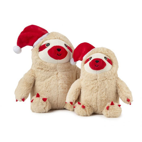 Plush Dog Squeak Toys - Christmas Sloth