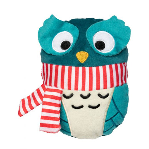 Plush Dog Squeak Toy - Christmas Owl