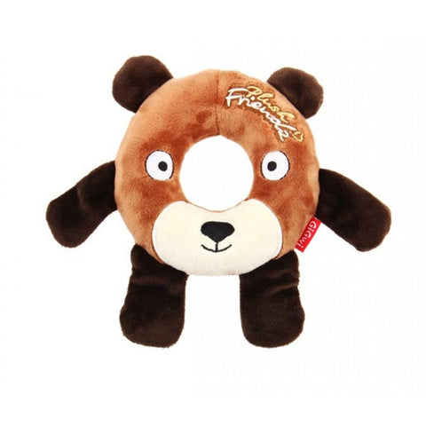 Gigwi Plush Rubber Ring Bear Medium