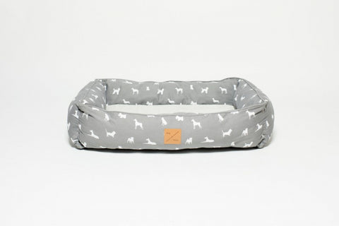 Mog & Bone  Bolster Bed - Grey Dog