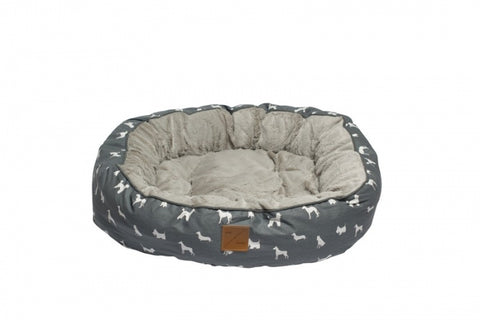Mog & Bone Circular Reversible Bed - Grey Dog
