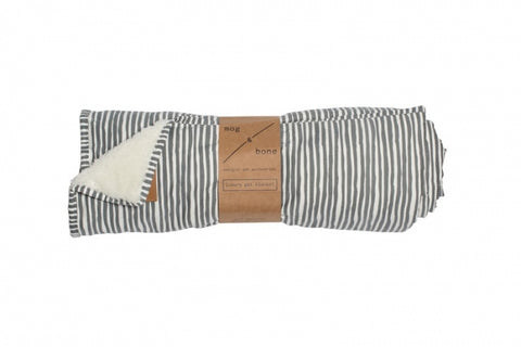 Mog & Bone Fleece Blanket - Grey Stripe