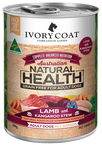 Ivory Coat Wet Dog Food - Lamb & Kangaroo Stew