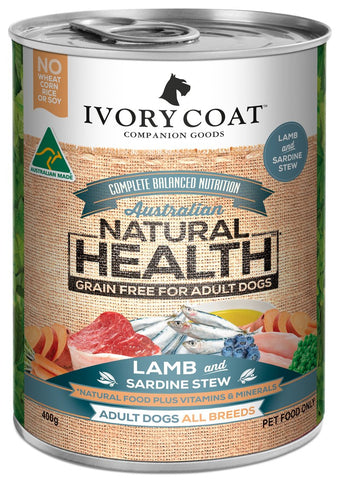 Ivory Coat Wet Dog Food - Lamb & Sardine Stew