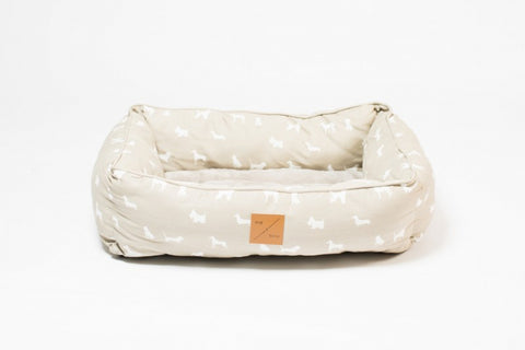Mog & Bone  Bolster Bed - Oatmeal Dog