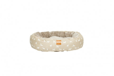 Mog & Bone Circular Reversible Bed - Oatmeal Dog