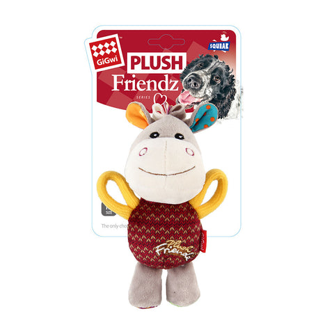Gigwi Plush Friendz Multi Colour Donkey