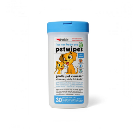 PETKIN Gentle Pet Wipes 30pk