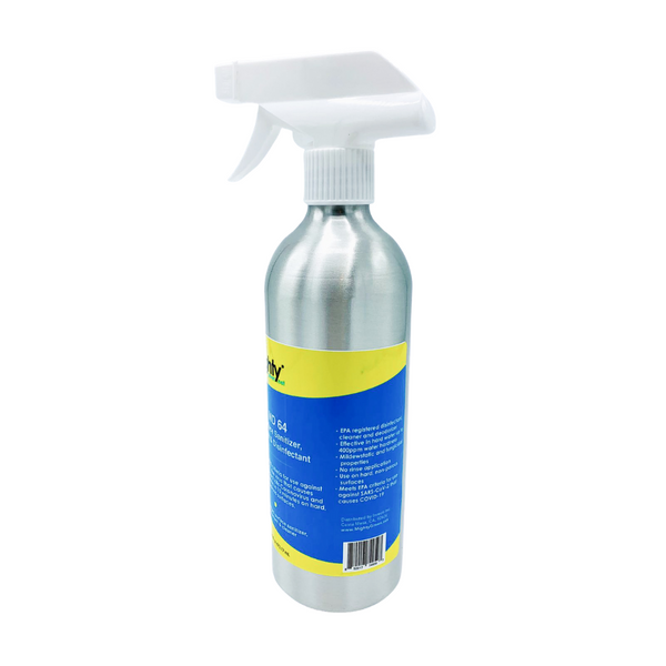 Disinfectant Surface Sanitizer Cleaner - 16oz Spray Bottle - Hospital Grade - 12/case