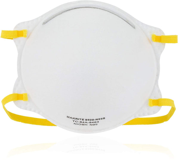 N95 NOISH Certified Face Mask Respirator - 9500-N95 Makrite (20/box)