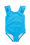 Ruffle one-piece - Azure