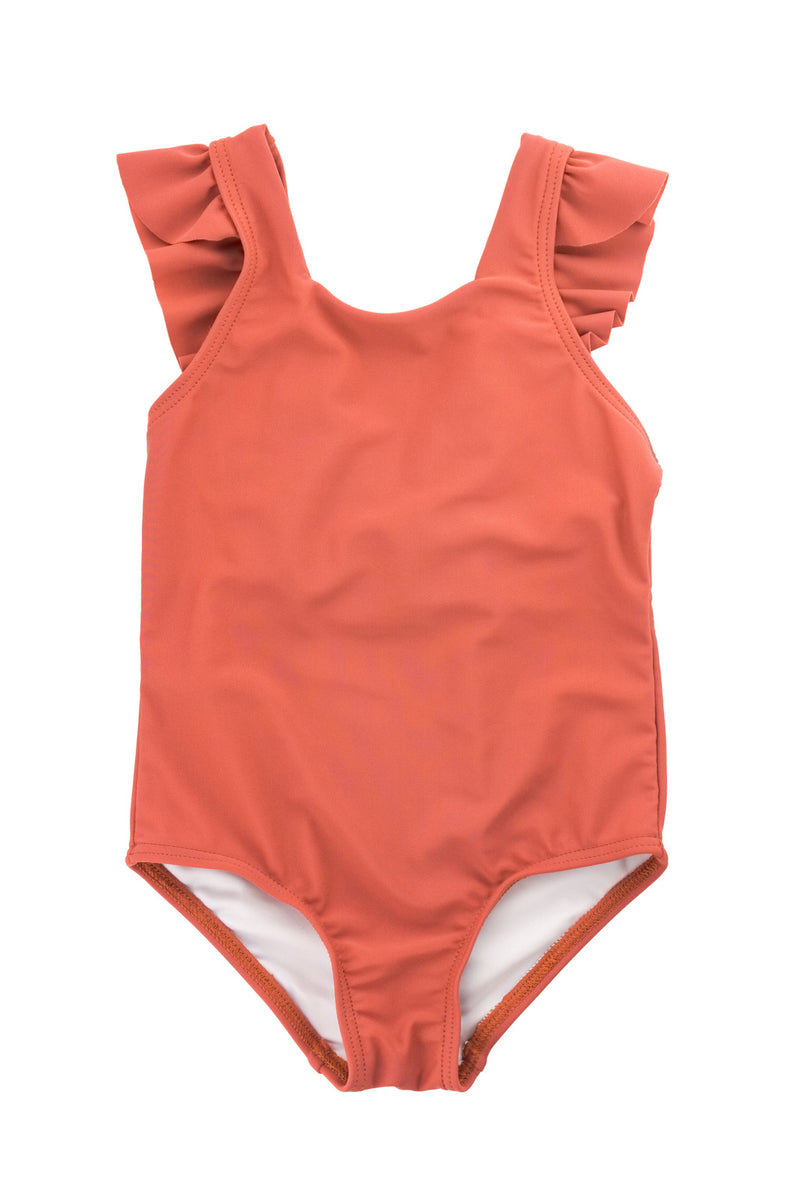 Ruffle one-piece - Rust