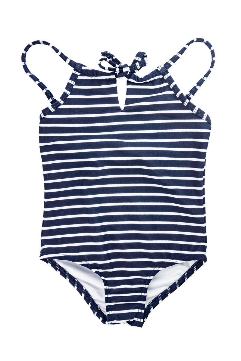 Tie front one-piece - Nautical Stripe