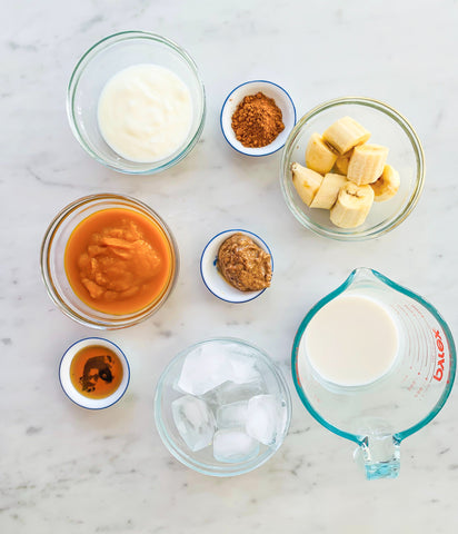 Ingredients for Cacao Pumpkin Smoothie