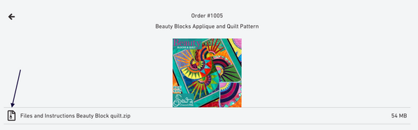downloading digital applique patterns online.
