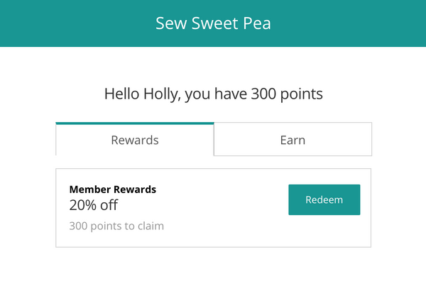 sew sweet pea applique rewards program