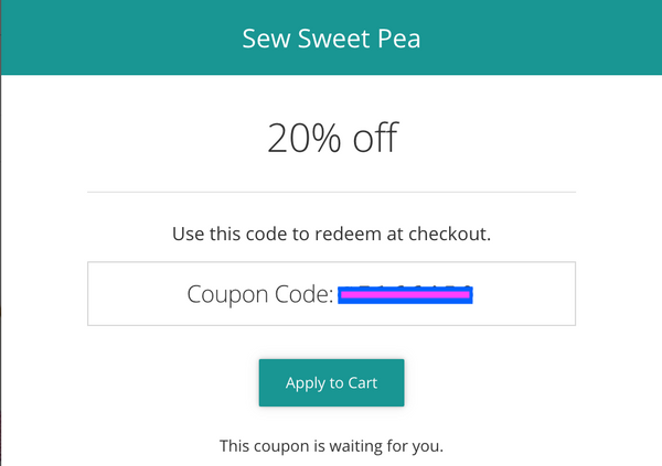 rewards program help for sew sweet pea applique