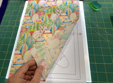 How to use fusible web for applique.  Fused applique