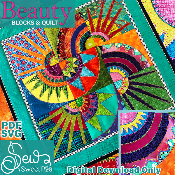 Beauty Blocks Applique and Quilt Pattern, Sewing pattern and applique pattern, new york beauty quilt sewing pattern, beauty quilt pattern, new york sewing pattern.