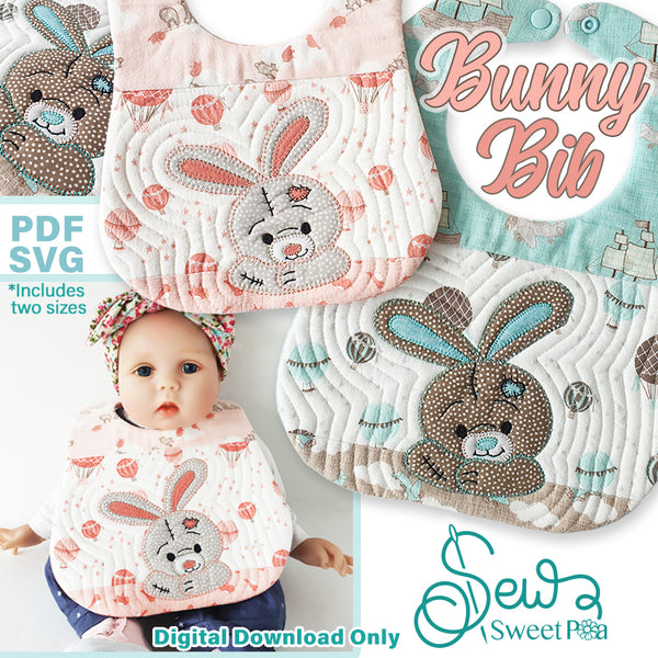 Bunny Bib Pattern and Applique