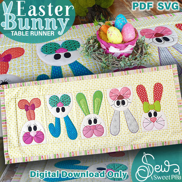 Easter Bunny Applique and Table Runner Pattern