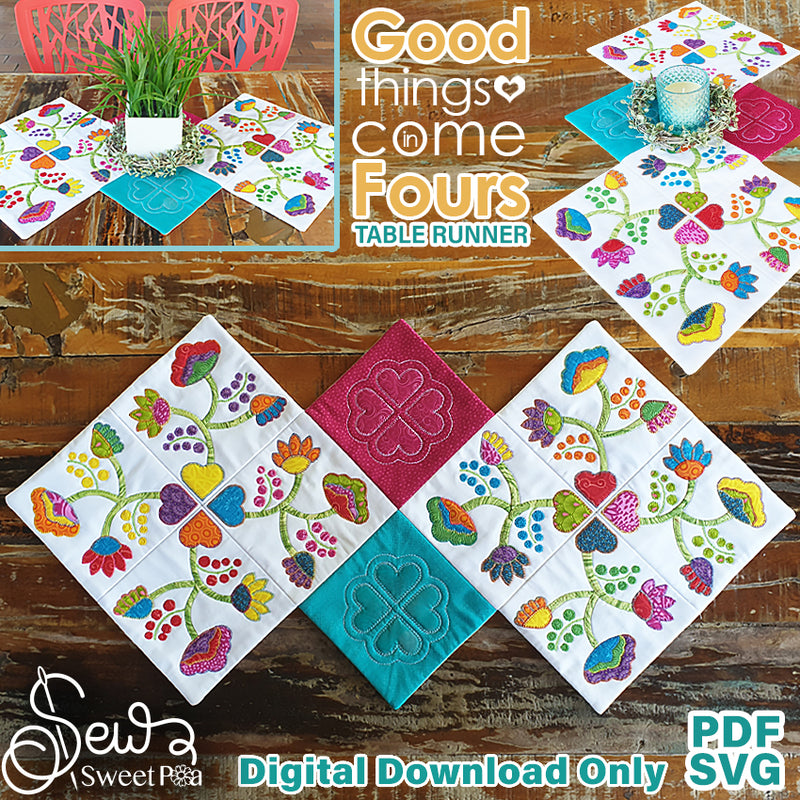 Good Things Come In Four Applique & Table Runner Pattern