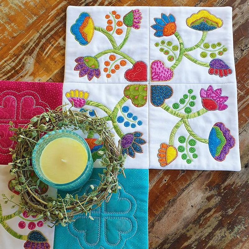 Good Things Come In Four Applique & Table Runner Pattern - Sew Sweet Pea