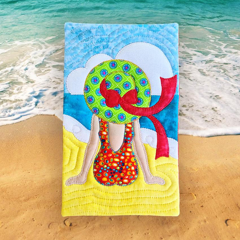 Lady at the Beach Mugrug and Applique Sewing Pattern. - Sew Sweet Pea