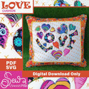 Love Cushion Applique Sewing Pattern. - Sew Sweet Pea