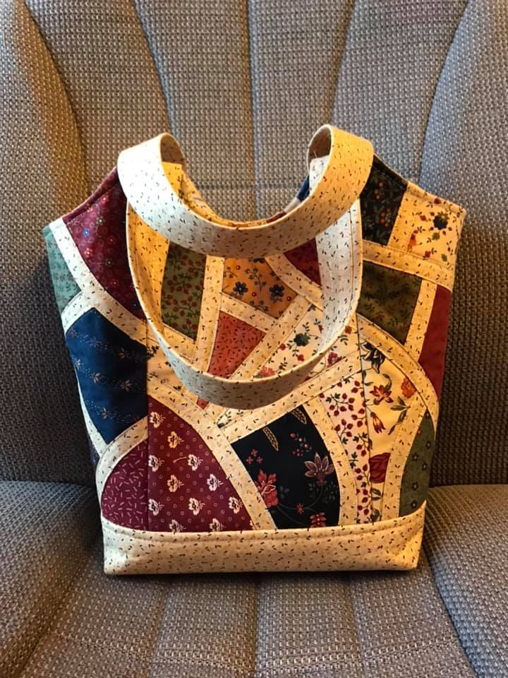Patchwork Handbag Applique and Bag Pattern - Sew Sweet Pea