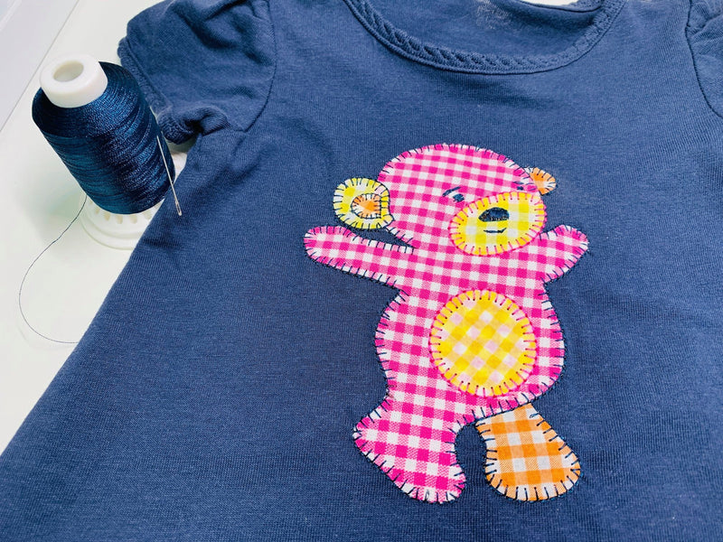 Free Applique Pattern - Free Bear Applique - Teddy Bear Applique with Flowers or Balloons. - Sew Sweet Pea - Cute Bear Shirt Applique