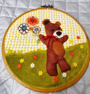Free Applique Pattern - Free Bear Applique - Teddy Bear Applique with Flowers or Balloons. - Sew Sweet Pea - 3d Flower and Bear Applique